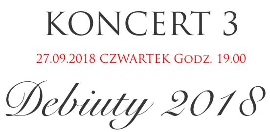 Festiwal Perła Baroku - Debiuty 2018
