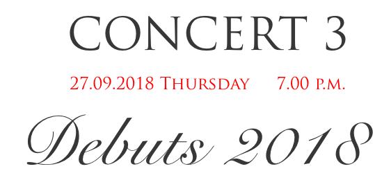 Pearl of Baroque - Debuts 2018