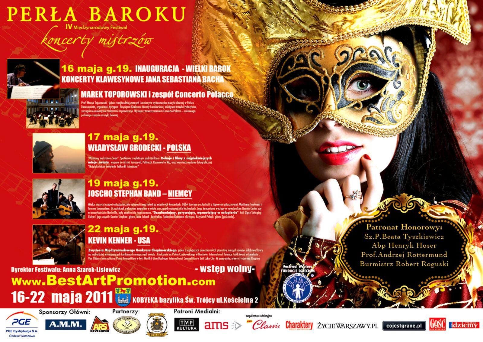 4 Międzynarodowy Festiwal Perła Baroku - Koncerty Mistrzów 2011_plakat